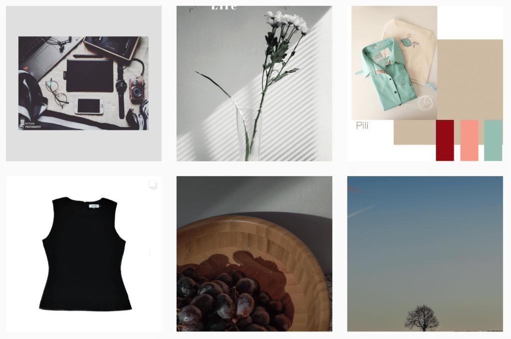 tema desain minimalist untuk desain feed Instagram
