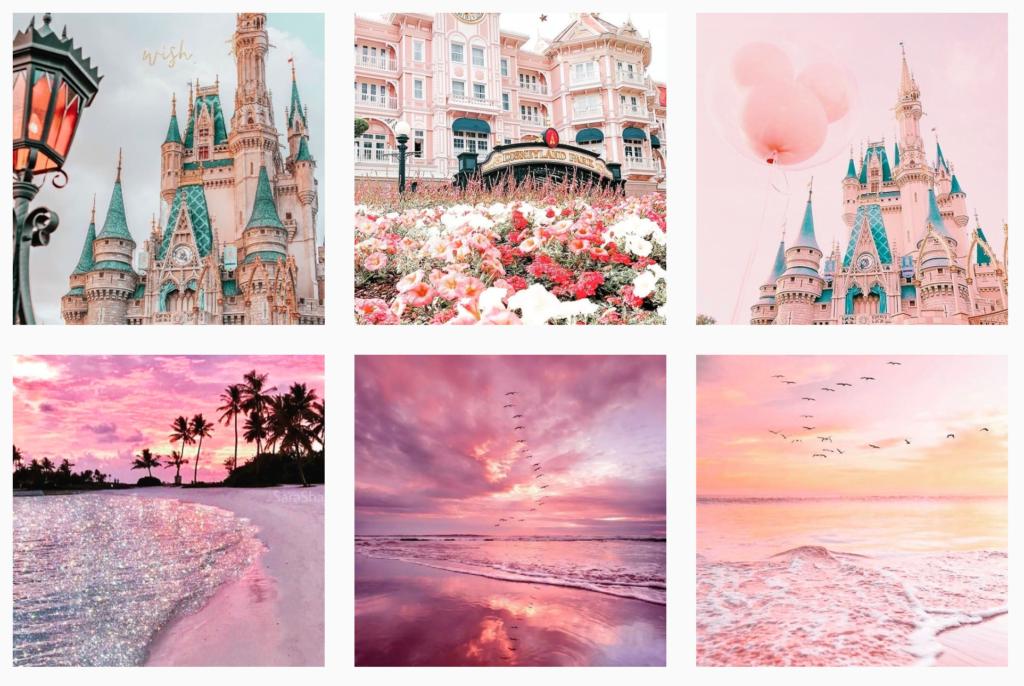 tema pastel atau warna pastel yang kalem cocok untuk desain feed Instagram